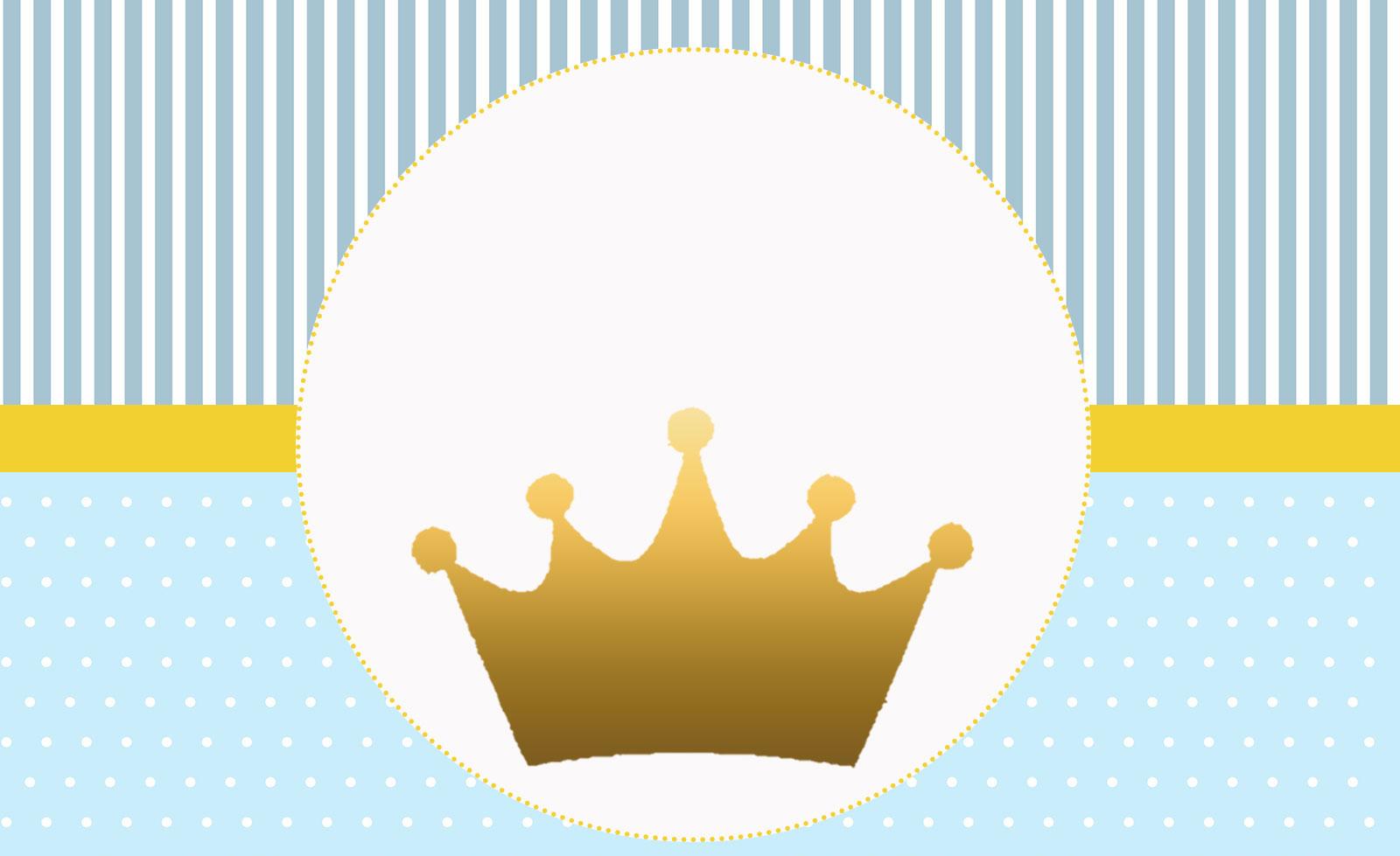 Príncipe Coroa Dourada – Kit festa infantil grátis para imprimir