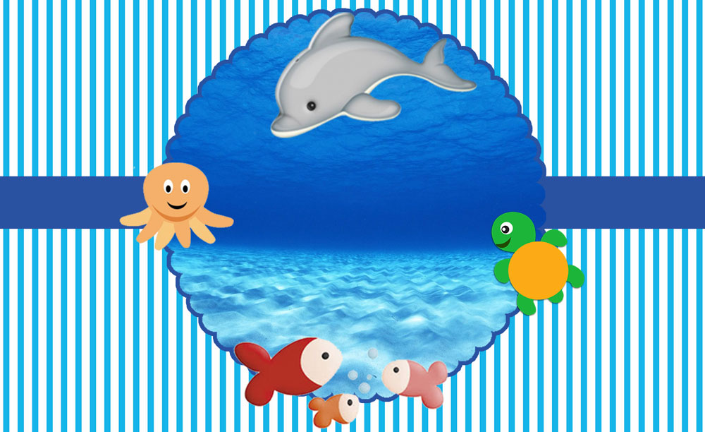 Fundo do mar – Kit festa infantil grátis para imprimir