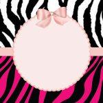 Zebra com rosa – Kit festa grátis para imprimir
