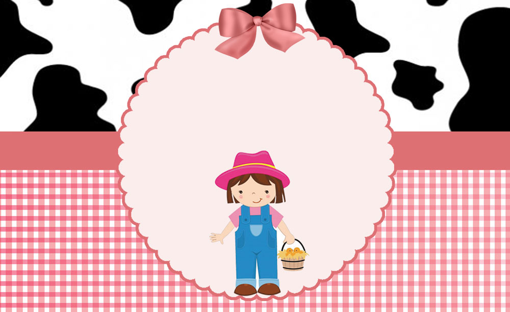 Fazendinha rosa – Kit digital gratuito – Inspire sua Festa