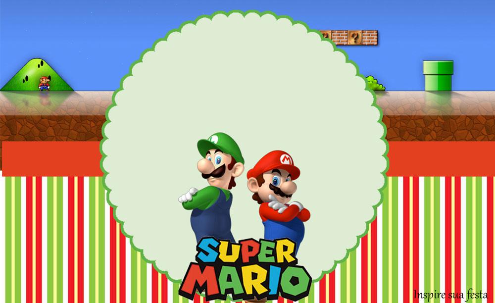 Mario Bros – Kit festa grátis para imprimir
