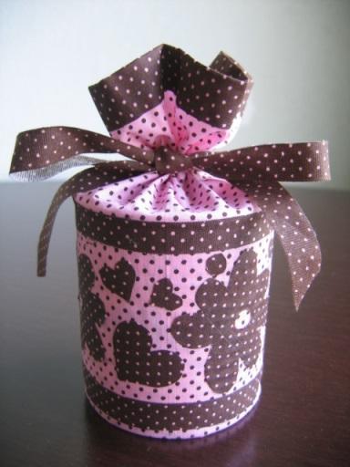 lata decorada com tecido 1