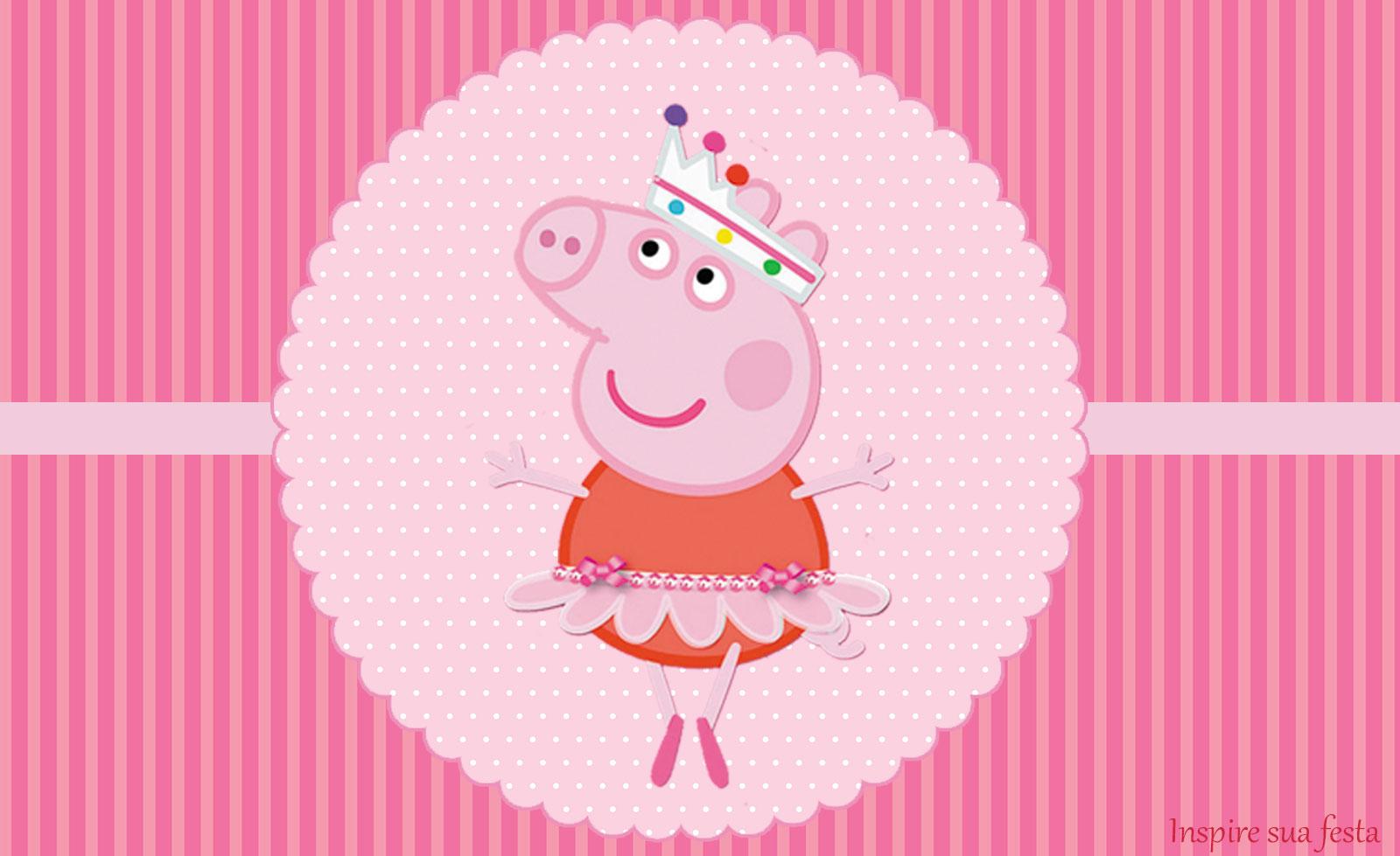 Peppa Pig Bailarina – Kit festa grátis para imprimir