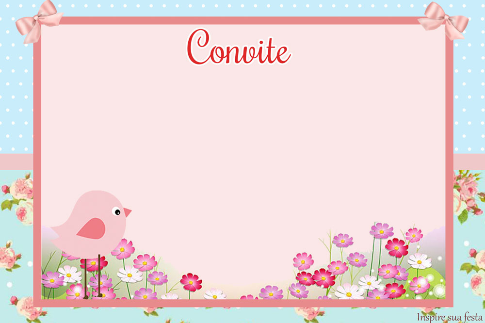 Passarinho Provençal Rosa e Azul – Kit digital gratuito – Inspire