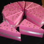 Como fazer Bolo de papel – Moldes das fatias