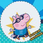 Super George Pig – Kit festa grátis para imprimir