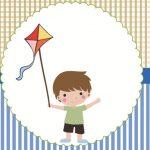 Personalizados Pipa menino – Kit festa para imprimir
