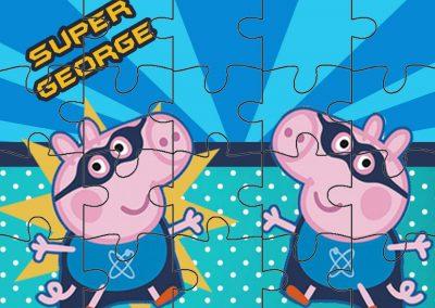 quebra-cabeca george pig super heroi