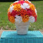 Como fazer Arranjo com Flores de Feltro – Passo a Passo