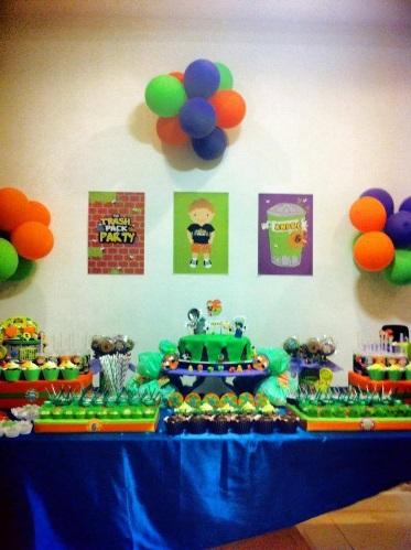 Decoração Festa Infantil Trash Pack Party