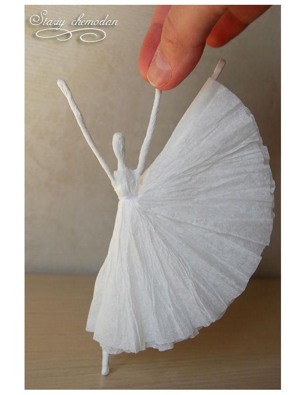 Como fazer Bailarina de arame e papel – Passo a Passo