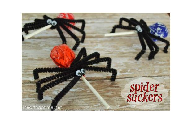 Como fazer aranha de pirulito passo a passo
