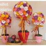 Como fazer Topiarias de flores de cartolina coloridas – PAP
