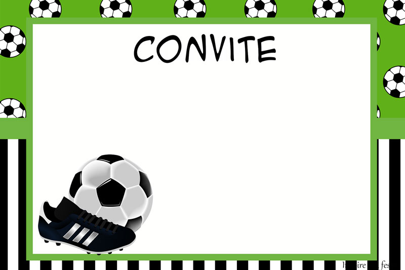 Convite personalizado Futebol