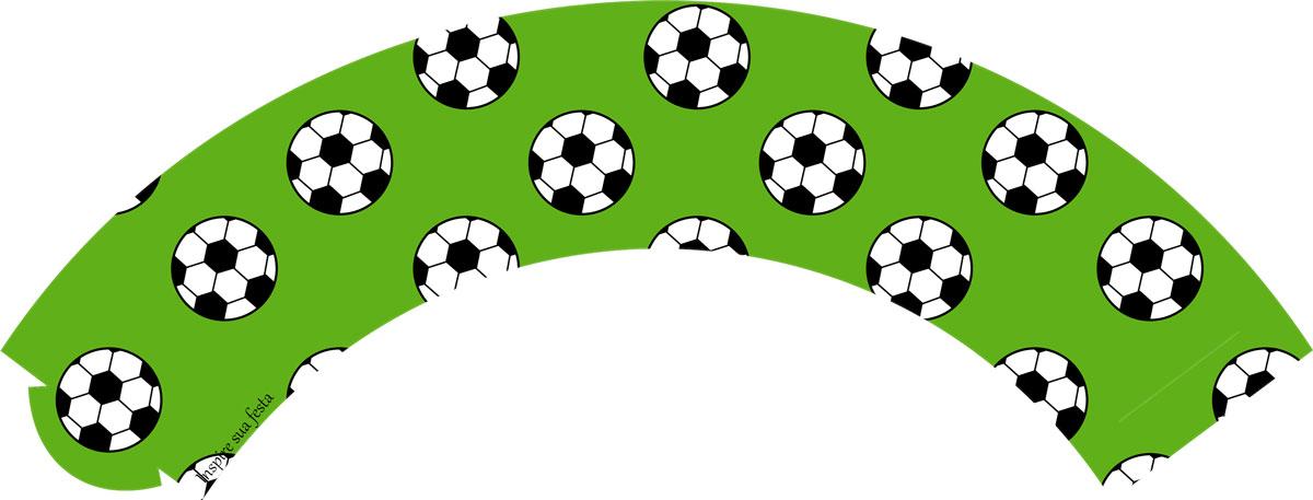 Saia para cupcake Futebol