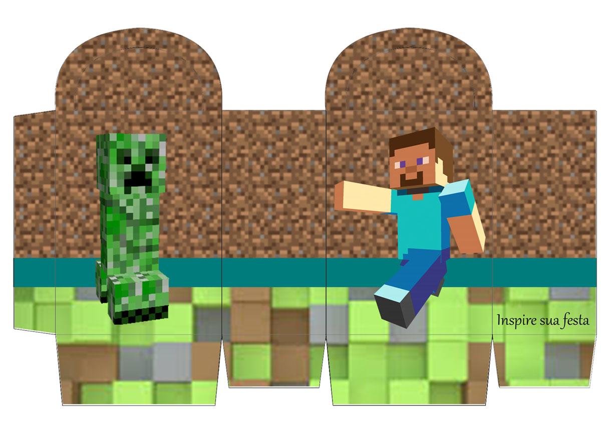Sacolinha personalizada Minecraft