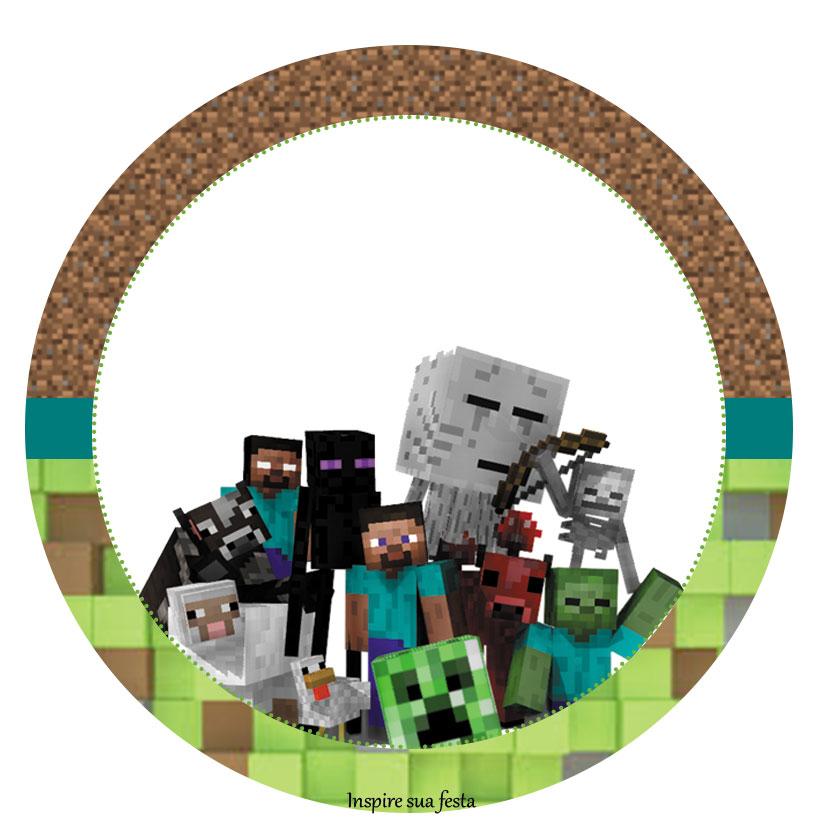 Tag ou topper docinho ou cupcake Minecraft