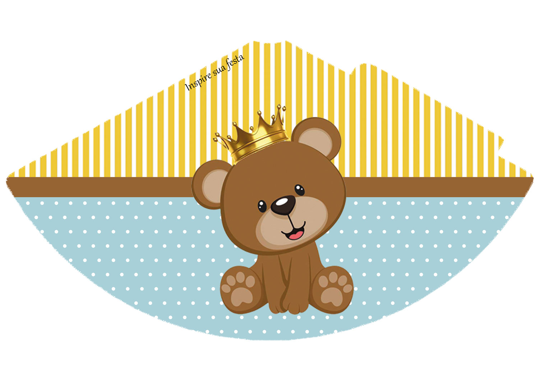 Chapéu de aniversário Ursinho Rei
