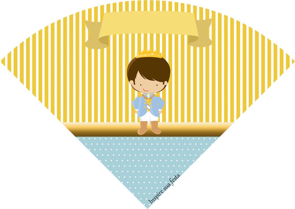 Cone de guloseimas Rei Azul e Dourado
