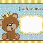 Ursinho Rei ou Príncipe – Kit digital gratuito