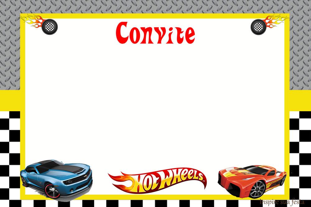 Convite Hot Wheels