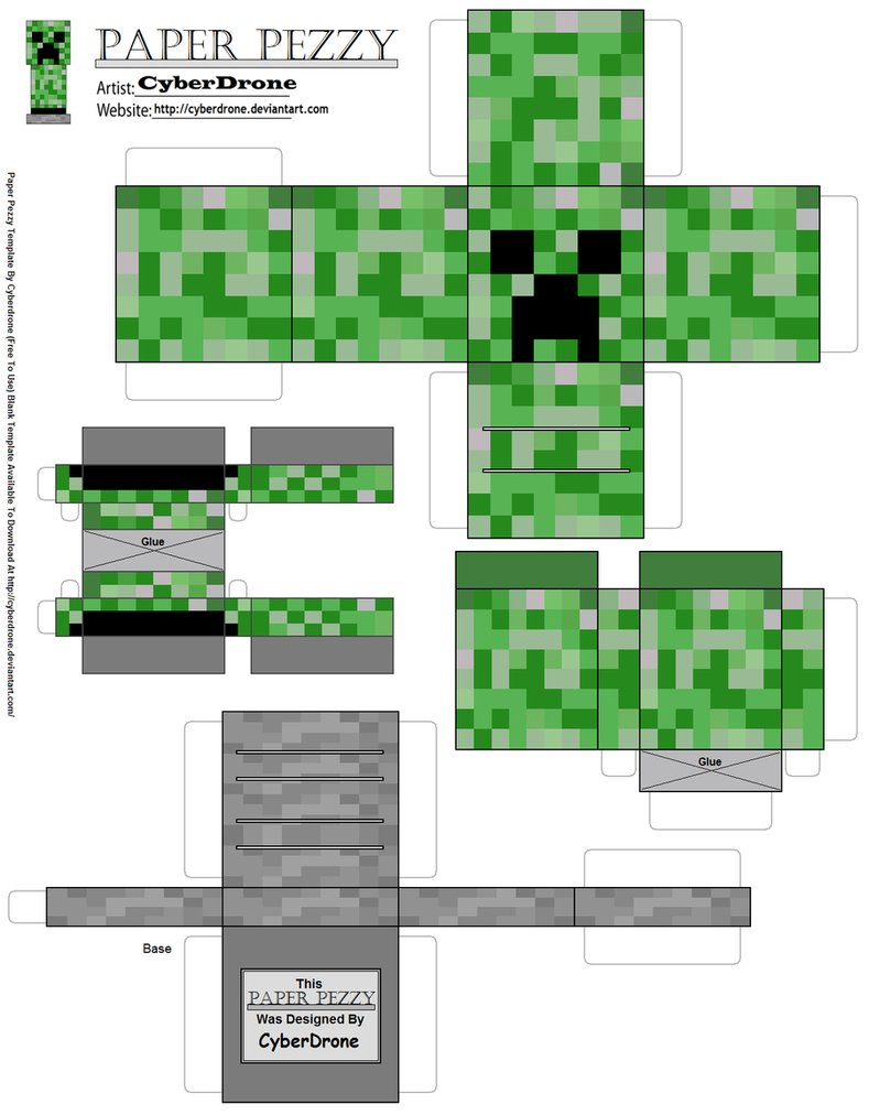 paper_pezzy__creeper___minecraft___by_cyberdrone-d4ptdjd