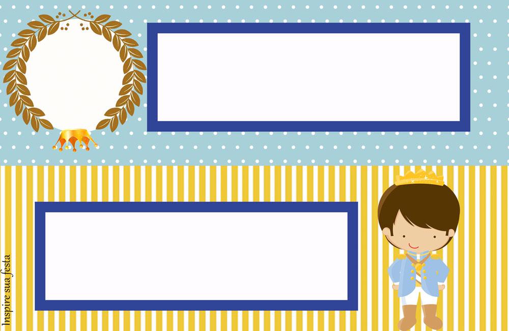 Placa de mesa Rei Azul e Dourado