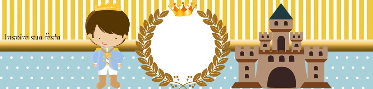 Rótulo água Rei Azul e Dourado