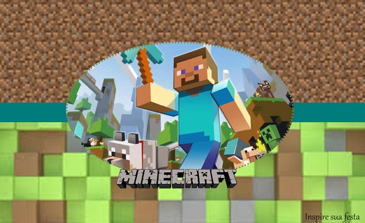 Rótulo lata de leite Minecraft