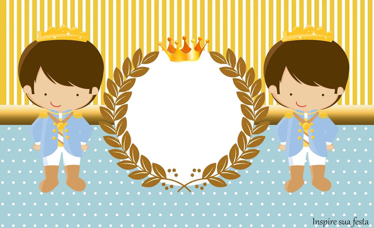 Rótulo lata de leite Rei Azul e Dourado