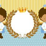 Rei Moreno Azul E Dourado – Kit Digital Gratuito