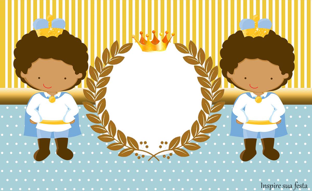 Rótulo lata de leite Rei Moreno Azul e Dourado