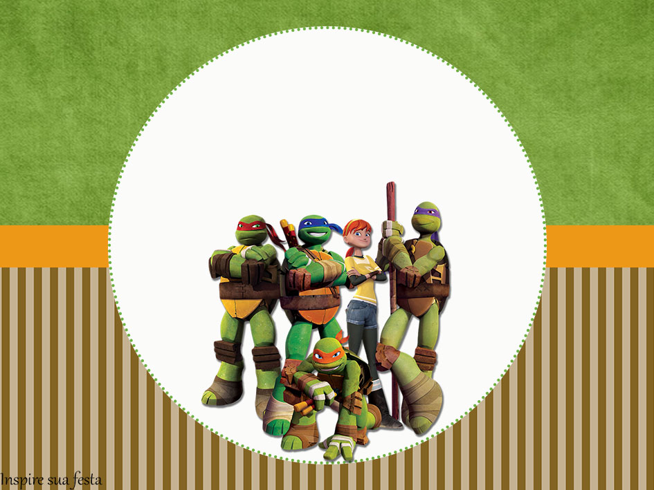 Tartarugas Ninja – Kit digital gratuito – Inspire sua Festa