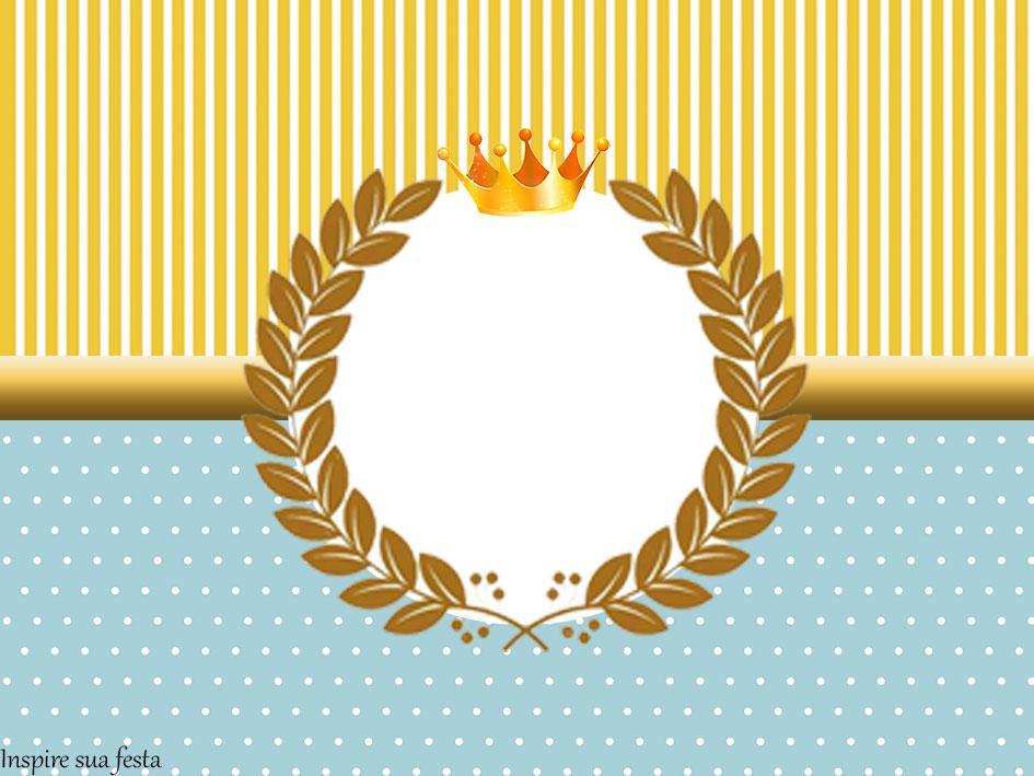 Tubete Rei Azul e Dourado