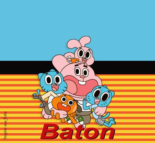 Rótulo Baton O incrível mundo de Gumball