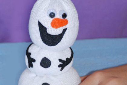 Como fazer Olaf com meias – Passo a passo