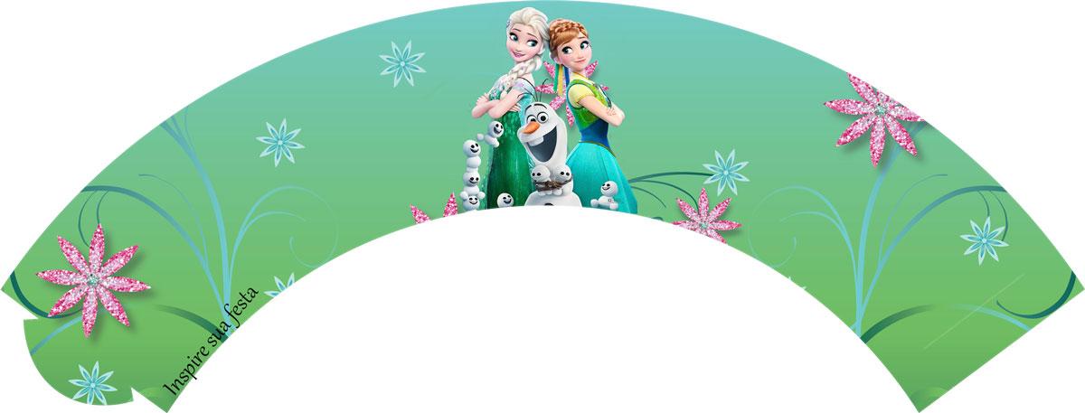 Saia para cupcake Frozen Febre Congelante