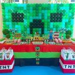 Decoração Minecraft By Lilian Ruas Tribo da Festa
