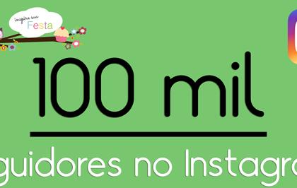 100 mil seguidores no Instagram