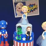 Decoração Vingadores no resgate da Princesa Elsa