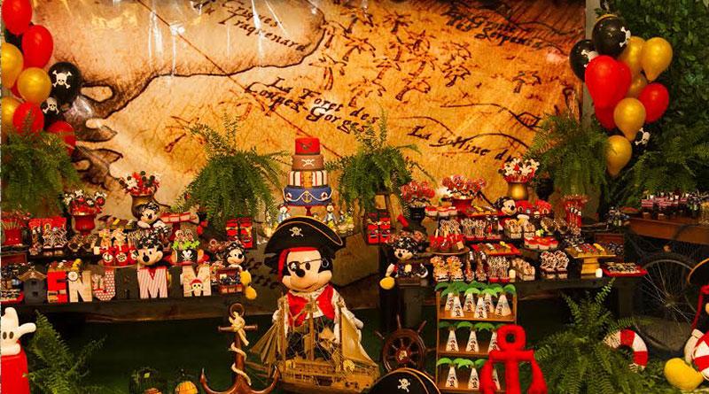 Decoração Mickey Pirata