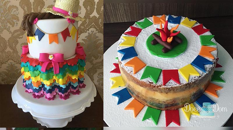 25 ideias de bolos para Festa Junina