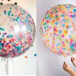 Bexigas com confete – Como fazer