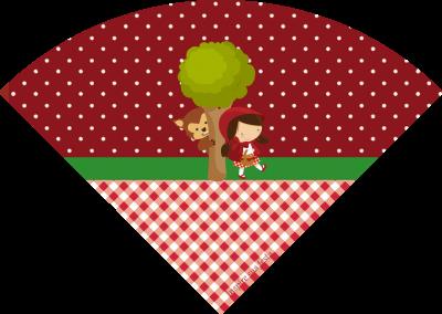 Cone-de-guloseimas-Chapeuzinho-Vermelho
