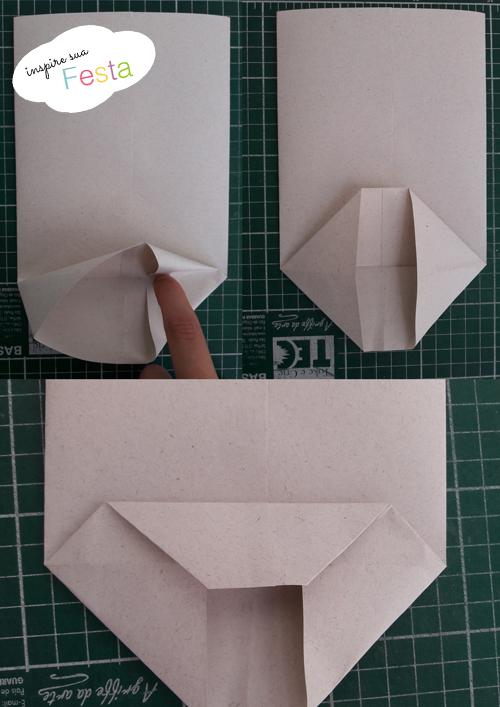 sacolinha de papel passo a passo inspire sua festa