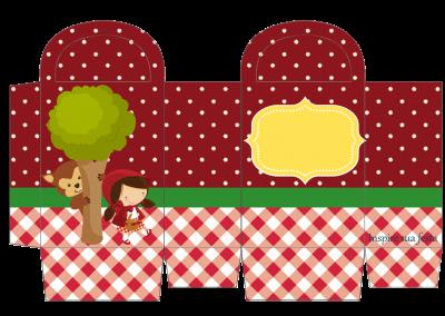 Sacolinha-para-guloseimas Chapeuzinho Vermelho