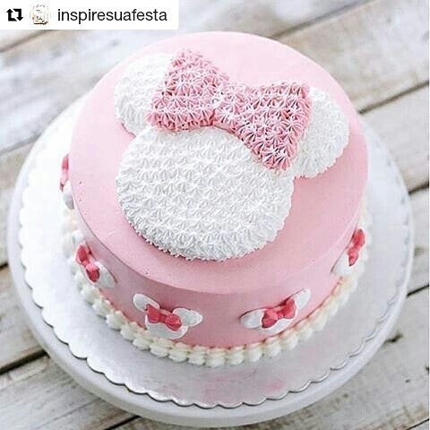 Bolo Minnie Rosa Inspire sua Festa 11