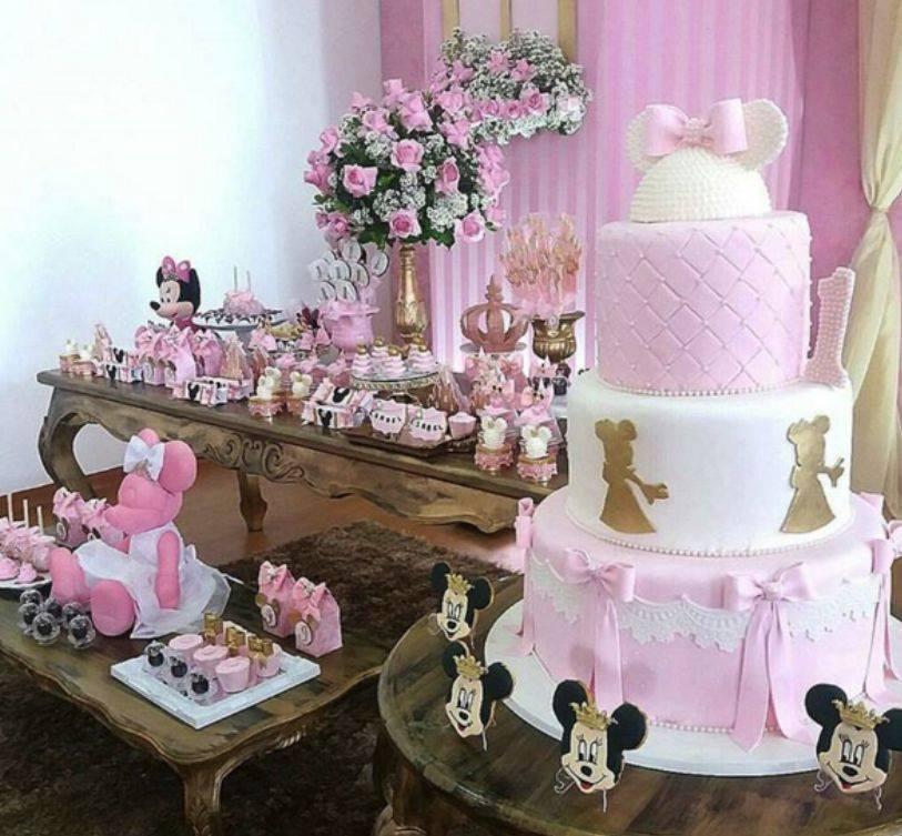 Bolo Minnie Rosa Inspire sua Festa 15