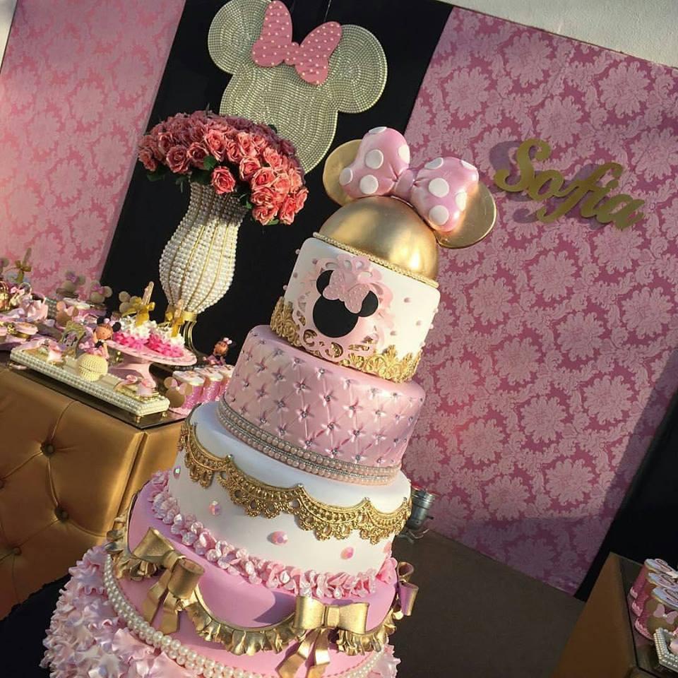 Bolo Minnie Rosa Inspire sua Festa 2