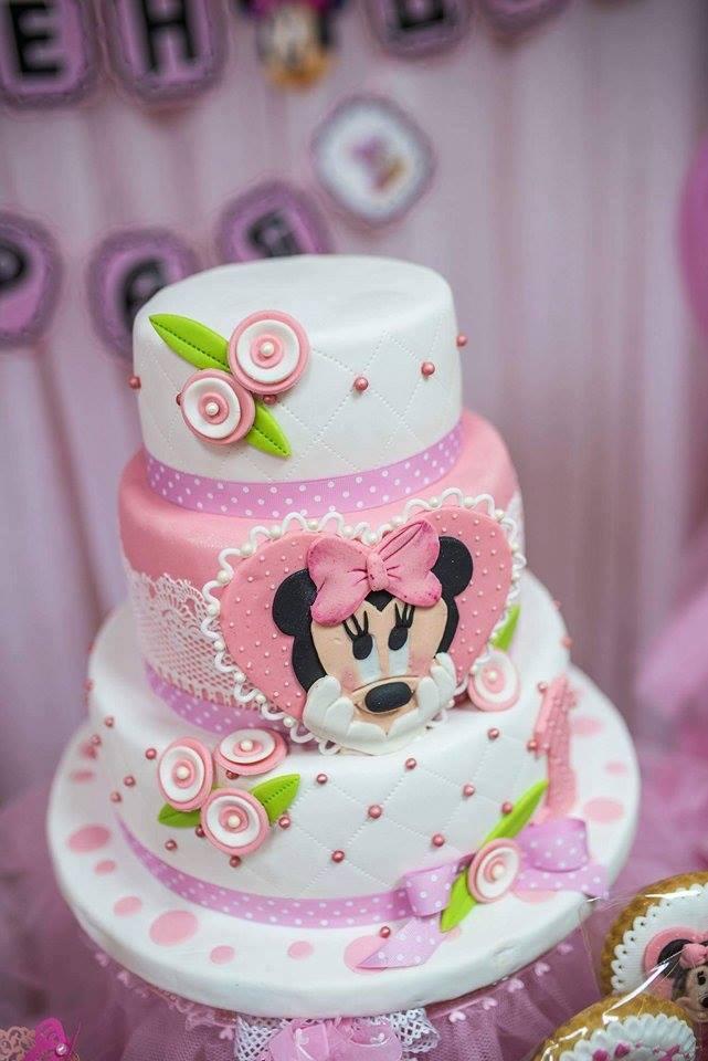 Bolo Minnie Rosa Inspire sua Festa 8